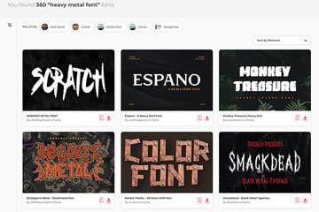 Best Source for Heavy Metal Fonts Envato Elements