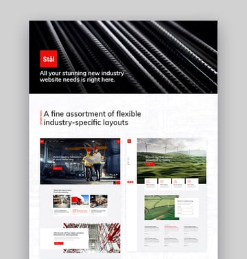 Stal Industrial Factory Business WordPress Theme