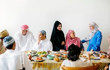 Middle Eastern Suhoor or Iftar meal