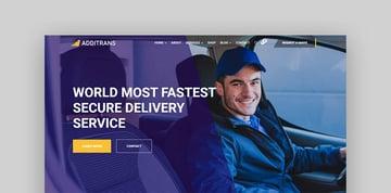 Additrans Trucking Theme WordPress
