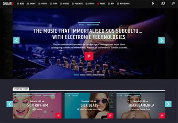 Onair 2 Image Focused Radio Streaming WordPress Theme