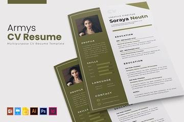 Armys Visual CV Resume