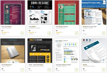 GraphicRiver Unique Resume Templates