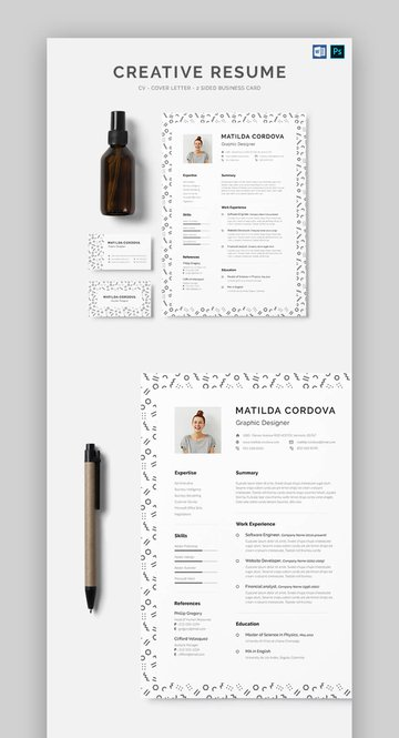Creative Patterned Resume