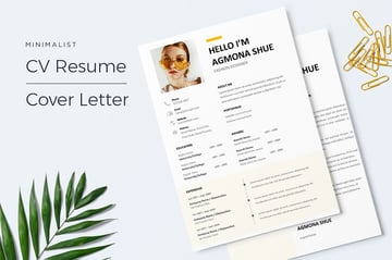 Agmona Minimal Resume Template