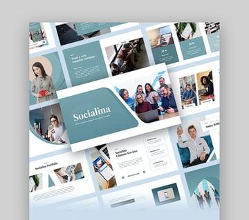 Socialina Social Media PowerPoint Template