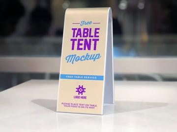 Table Tent Restaurant Menu Mockup PSD Free
