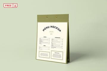 Clipboard Menu Mockup