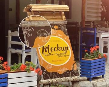 Restaurant Menu Mockup PSD Free