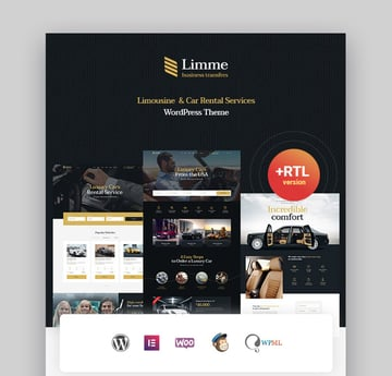 Limme Limousine Taxi Theme for WordPress