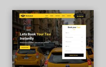 Motodeal Car Dealer Taxi Template WordPress