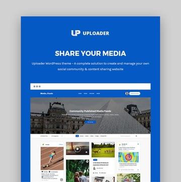 Uploader Best Video WordPress Theme