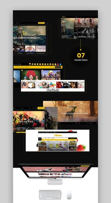 Viem WordPress Video Blog Theme Responsive