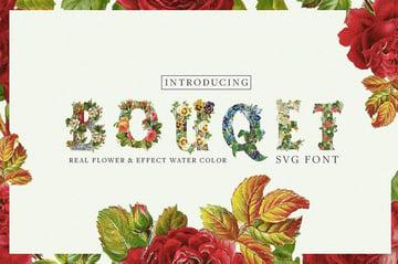 Bouquet Color Font