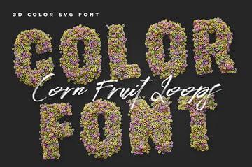 Fruit Loops Opentype SVG Color Fonts