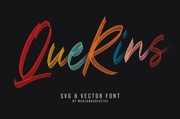 Querins SVG Brush Color Font