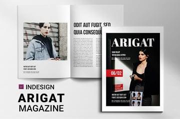 Arigat Magazine Cover Design