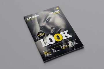 Stylish Style Magazine Cover Close-up