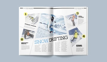 Sports Infographic Magazine Spread Design