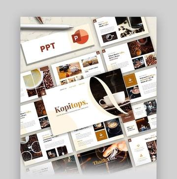 Kopitops PowerPoint Coffee Theme