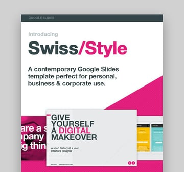 Swiss Style Good Themes For Presentations
