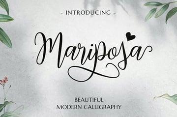 Mariposa Modern Calligraphy Font