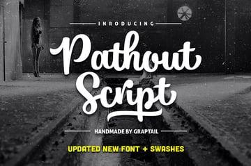 Pathout Script Lettering Design