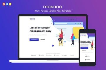 Masnoo Multi-Purpose Landing Page Template