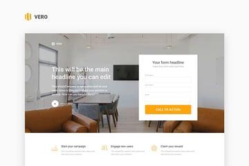 Vero Single Product Landing Page