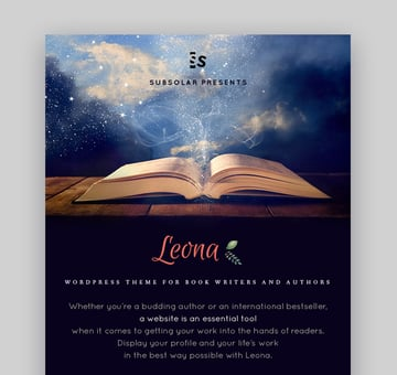 Leona Book Landing Page and Website