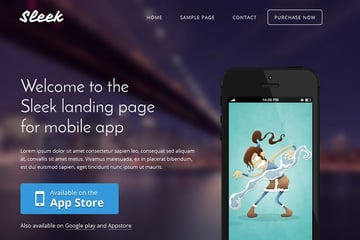 Sleek Mobile Book Landing Page Examples