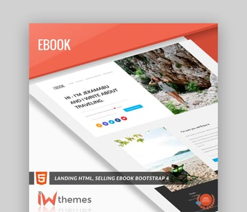 eBook HTML5 Landing Template With BootStrap 4