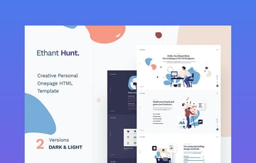 Ethant Hunt one page landing page design