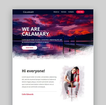 Calamary Professional Newsletter Email
