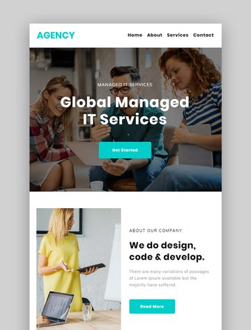 Agency Market Responsive Newsletter With Template Builder
