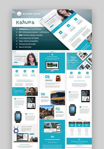 Kahuna - Giant Multipurpose Email  Builder Access