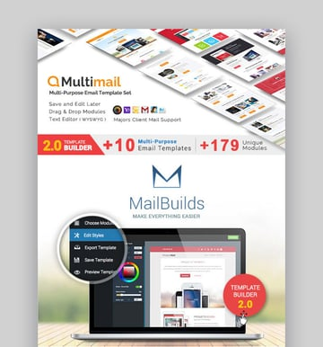 Multimail  Responsive Email Set  MailBuild Online