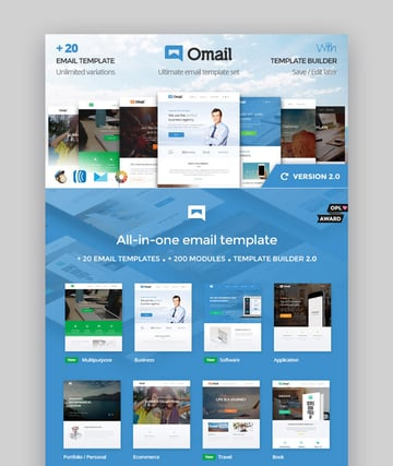 Omail - Email Templates Set With Online Builder