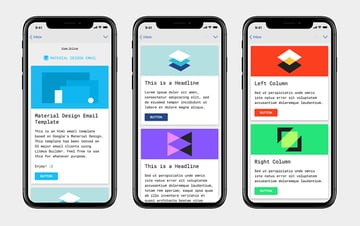 Material Design mailchimp email templates free download
