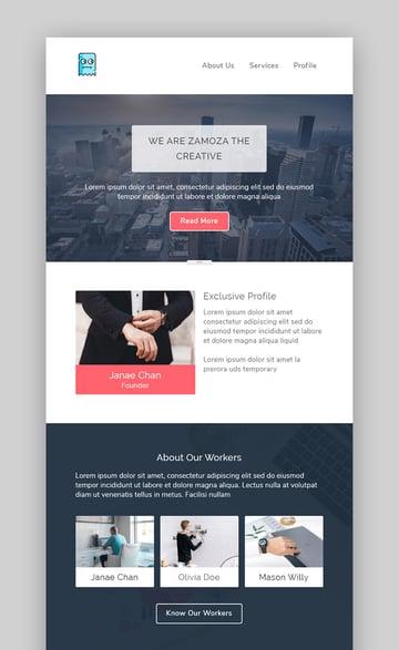 Zamoza Mailchimp Template Download