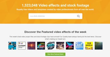 VideoHive Homepage