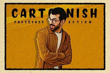 Cartoonish Modern Cartoon Photoshop Effect Action