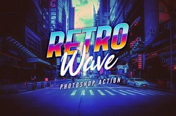 Retro Wave Photoshop Action
