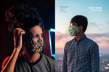 Face Mask Mockup Template PSD