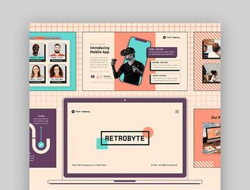 RetroByte PowerPoint Vintage Theme
