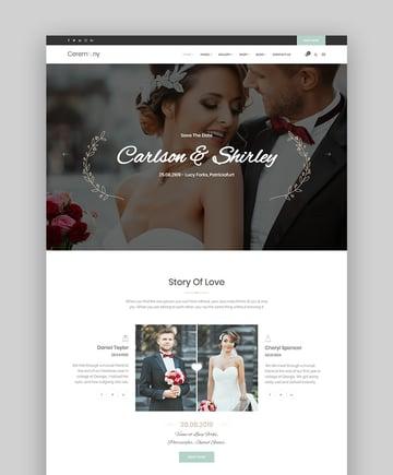 Ceremony Marriage Responsive Wedding WordPress Theme