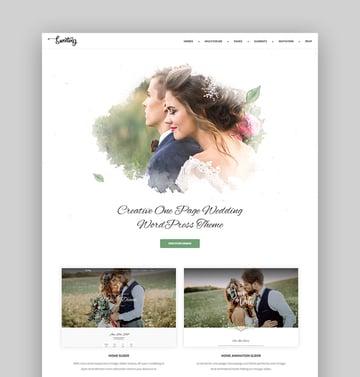 Sweetinz WordPress Wedding Theme