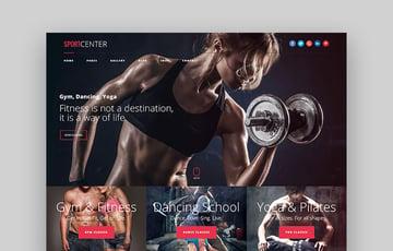 SportCenter CrossFit Fitness WordPress Theme