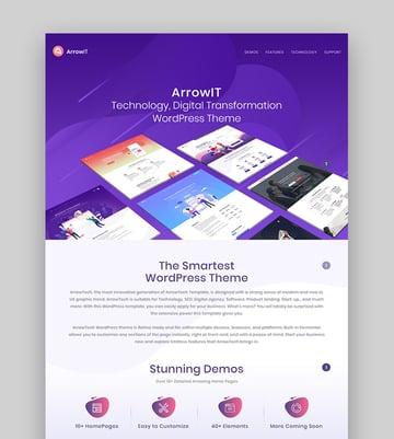ArrowIT Tech Startup WordPress Theme