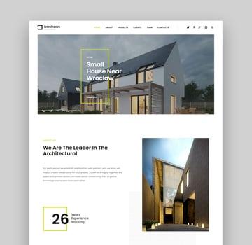 Bauhaus simple real estate landing page design